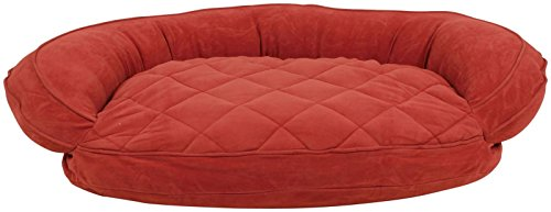 carolina-pet-quilted-bolster-bed-for-pets-with-moisture-barrier-protection-large-red