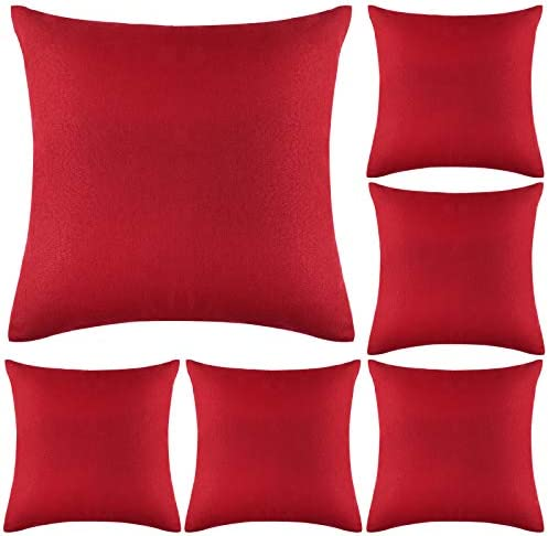 Aneco Pack of 6 Decorative Outdoor Waterproof Throw Pillow Covers Square Patio Cushion Cases Garden Pillowcase