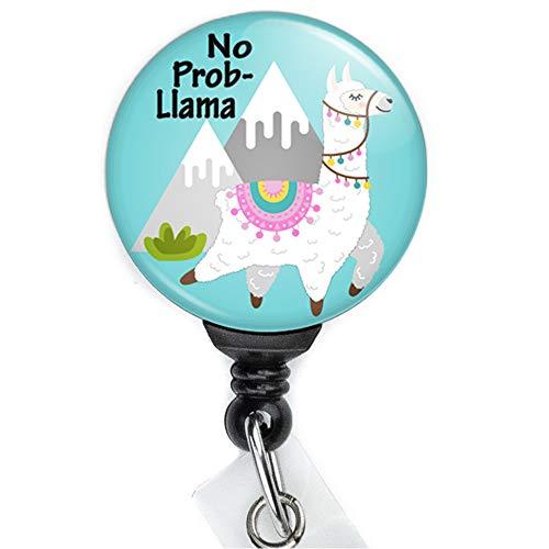 - No Prob-Llama Retractable Badge Reel with Swing Clip and 36 Inch Cord