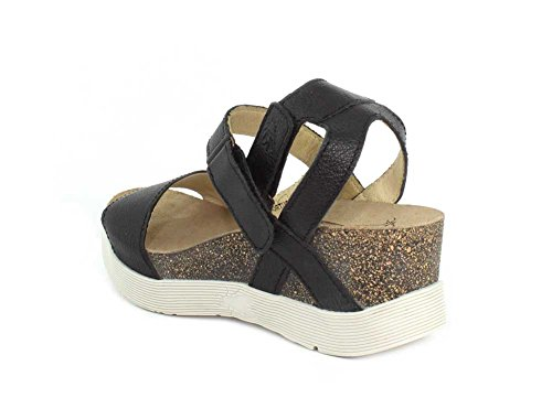 Fly Sandal Mousse Black Women's Wedge London WINK196FLY rSRr4