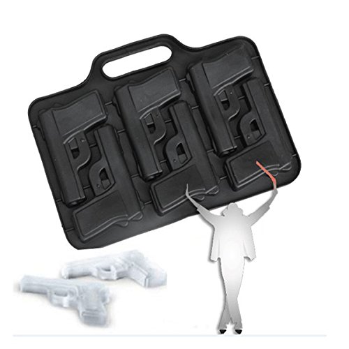 Tools & Accessories - Cf-Gi4 Gun Shape Silicone Ice Tray Chocolate Pudding Jelly Mold Bar Drink Tool - Throttle Frame Grease-Gun Regulate Accelerator Pedal Forge Human Body - ()