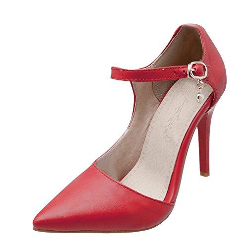 mode Chaussures Womens Cheville Mee Enveloppé Bout À Chaussures Rouges Pointu Cour POz6588wq