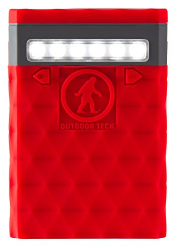 Portable Battery Charger – Outdoor Tech Kodiak Plus 2.0 Portable Charger – Red – Waterproof and Water Resistant– Dust and Shockproof - 10000mAh Rechargeable Battery (Certified Refurbished) by Outdoor Tech