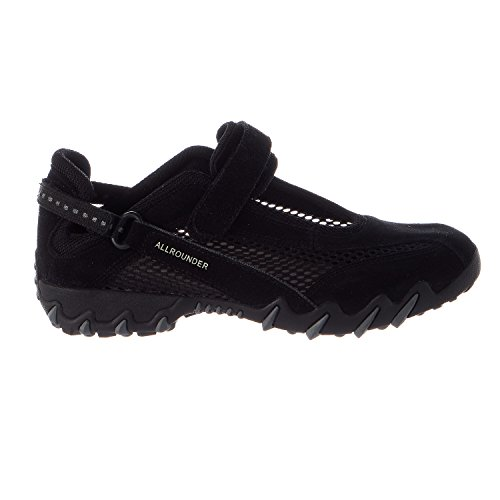 Allrounder by Mephisto Niro Mary Jane Flat - Black Suede N/Open Mesh - Womens - 8