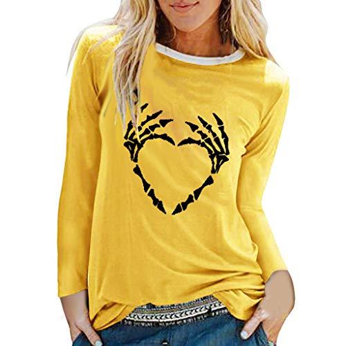 KLFGJ Women Slouchy Shirts Halloween Ghost Print