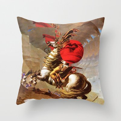 ArneCase Napoleon Decorative Linen Square Throw Pillow Covers 16x16 inch Cushion Case Sofa Bedroom Car, Two Sides ()