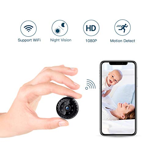 TAOCOCO Small Hidden Camera 1080P Spy Camera Wireless Mini Security Camera WiFi Indoor Outdoor Security Camera with Night Vision Motion Detection for iPhone/Android Phone/iPad