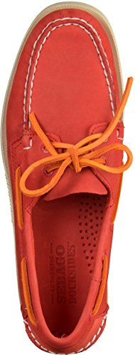 Red Sebago Rosso Men's Leather Shoes Nubuck Docksides wgHqEgp