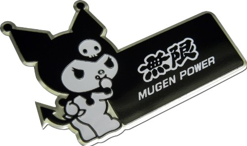 Hello Kitty Fender - Mugen Power Kuromi Hello Kitty Black White Aluminum Emblem Badge Nameplate Logo Decal Rare Japan JDM for Honda Acura Civic Fit Prelude Integra RSX Accord Si TSX CL TL GSR LS EK9 EK EG