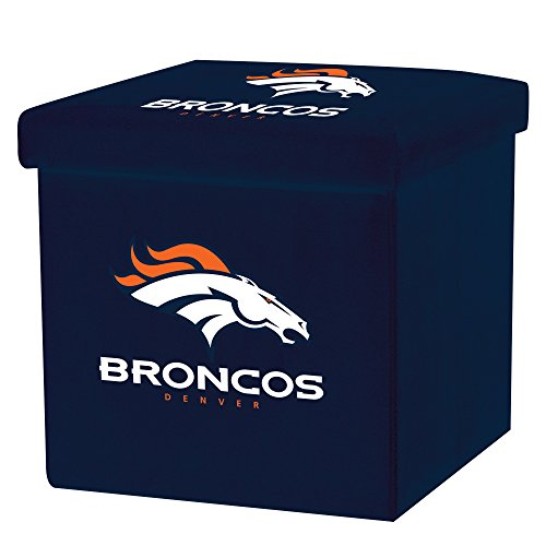 Franklin Sports NFL Denver Broncos Storage Ottoman with Detachable Lid 14 x 14 x 14 - ()