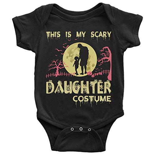 My Scary Daughter Costume Baby Bodysuit, My Daughter Baby Bodysuit (NB, Baby Bodysuit - Black)
