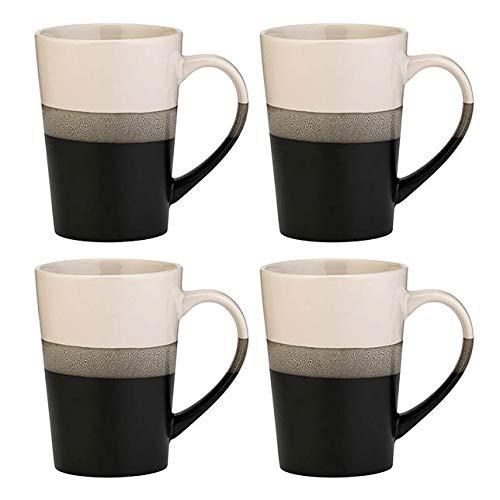 Amici Home 7CN520S4R Onyx Reactive Glaze Ceramic Coffee Mug 20 Fluid Ounces Black and -