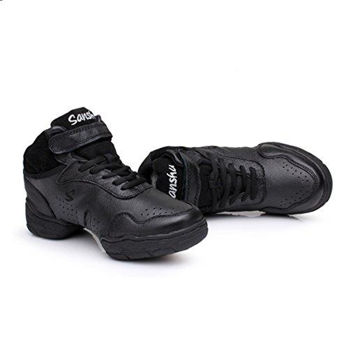 Tmkoo Nieuwe Dans Schoenen Nieuw Plein Dansschoenen Vrouwelijke Herfst En Winter Jazz Schoenen Leder Solo Moderne Dans Schoenen Fitness Black