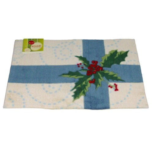 holiday-door-mat-blue-bow-holly-plush-throw-accent-rug