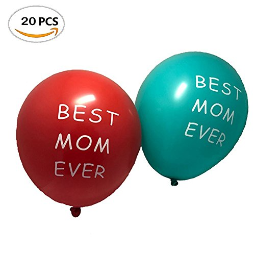 LanMa Happy Mum's birthday party Mothers Day party 12 Inches Latex Balloons party (20pcs)