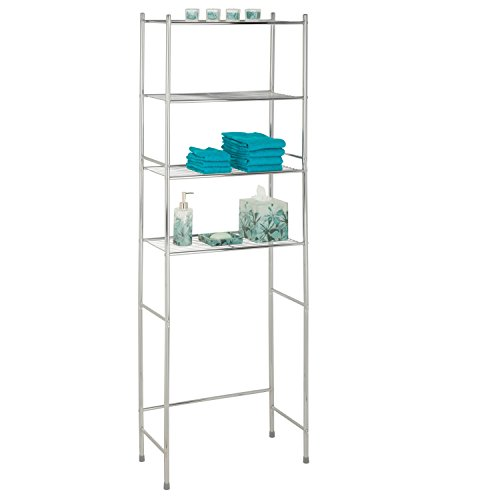 81 4-Tier Metal Bathroom Shelf Space Saver, 24.02 x 11.02 x 67.72, Chrome ()