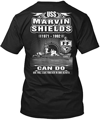 (Sigm Fores - USS Marvin Shields ff-1066- T-Shirt - Get It Now! Black)