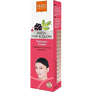 VLCC Insta Fair & Glow Fairness Cream 25 gm (Pack of 4)