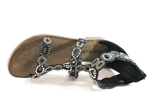 Originalpreis Sandale 69 Materialmix 75 Lazamani 586 Black 95 dF6pXdwqx