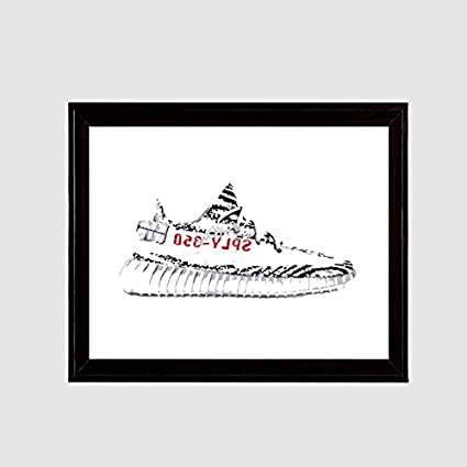 dd1dc790f Image Unavailable. Image not available for. Color  Yeezy 350 Boost v2 Zebra  Art Print
