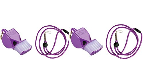 Fox 40 Classic CMG Cushion Mouth Grip Sports Whistle with Lanyard, Purple (Pack of (Fox Engine)