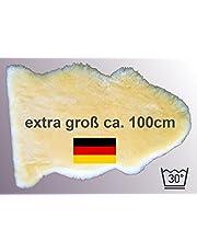 extra grote lamsvacht LANABEST XXL. ***** Onze bestseller: medische merino schapenvacht in premium kwaliteit. Vervaardigd in Duitsland. Fabriekfris, huidvriendelijk, wasbaar op 30 graden. Afmetingen ca. 100 cm