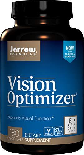 Jarrow Formulas Vision Optimizer, Supports Visual Function, 180 Caps (Jarrow Formulas Adrenal Optimizer)