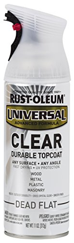 Rust-Oleum 302151 Universal All Surface Spray Paint, 11 oz, Clear Dead Flat (Best Flat Clear Coat)