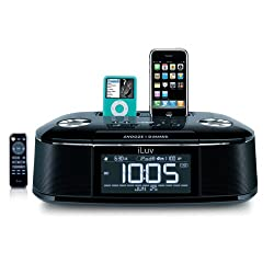 iLuv iMM173 Alarm Clock and Dual Dock for iPod and iPhone (Black)