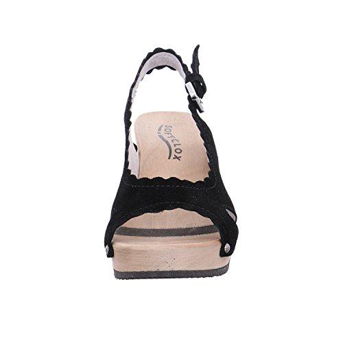 Softclox Vrouwen Sandals 3424 Regina Zwart 03 Zwart 457623 Zwart