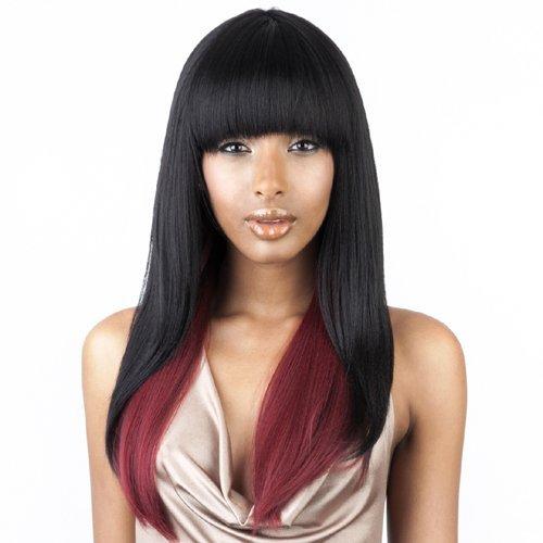ISIS BROWN SUGAR Human Blended Full Wig - BS103 (#F1B/30 - Off Black/Medium Brown)