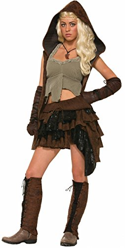 Warrior Princess Costume Accessories (Forum Novelties Women's Medieval Fantasy Rogue Female Warrior Costume, Multi, One Size)