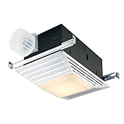 Broan Fan and Light, 70 CFM 4.0 Sones, White Plastic Grille