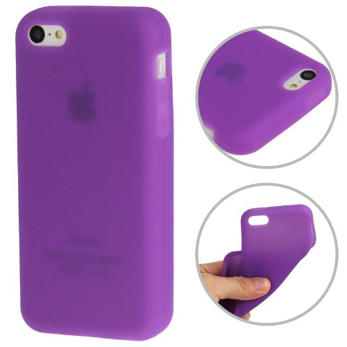 "iPhone 5C Premium Hülle / Case / Cover in lila aus Silikon / TPU im ""1-Color-Style"" -Original nur von THESMARTGUARD-"