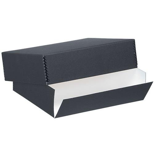 Lineco Archival 11 X 14 Inches Print Storage Box, Drop Front Design, 11 1/2 X 14 1/2 X 3 Inches, Exterior Color: Black FSMB1114B
