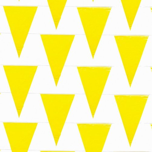 Fun Express - 100 Foot Yellow Pennant Banner,Plastic, 48 Pennants Per String for $<!--$10.34-->