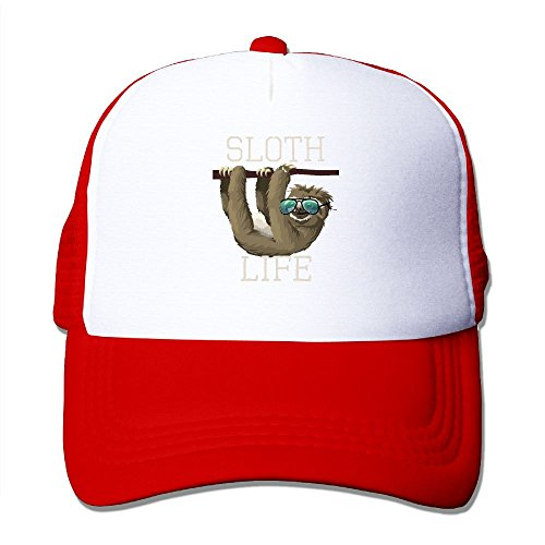 ZhiqianDF Momen's Sloth Life Funny Animal Sunglasses Fashion Football Red Mesh Cap Hat Adjustable - Sunglasses Wrangler
