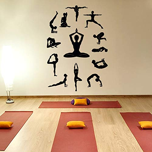 Amazon.com: Yoga Wall Decal Vinyl Sticker, Yoga Studio Decor ...