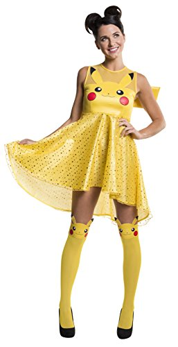 (Rubie's Costume Co Women's Pokemon Pikachu Costume Dress, Yellow,)