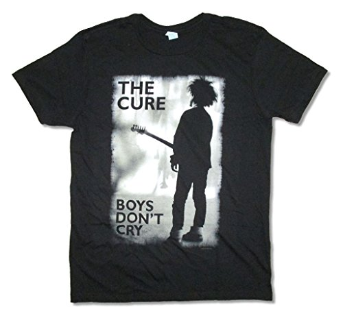 The Cure Boys Don't Cry Grey Image Black T Shirt (XS)