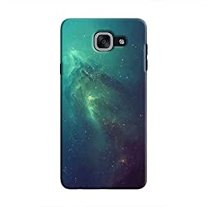 Cover It Up - Blue Space glow Galaxy J7 Prime Hard Case