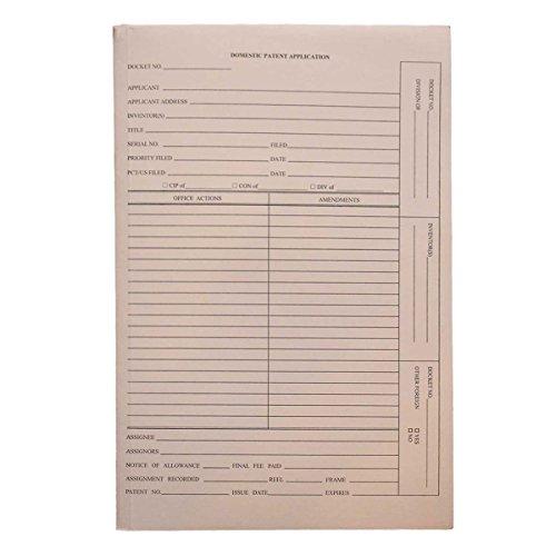 Patent and Trademark Folder, No Tab for Drawer Filing, Manila -