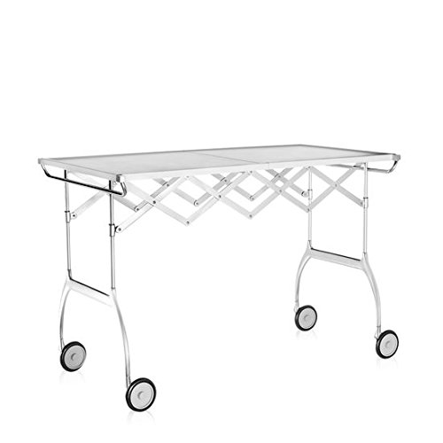 Kartell Battista - matt white folding trolley (Original made in Italy) by Kartell