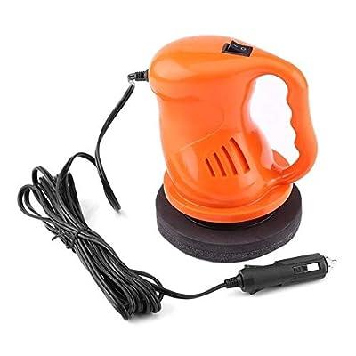 RUNNA Polisseuse de Voiture électrique Épilation à la Cire Machine à polir Automatisation Nettoyage Voiture Accessoires de Voiture ABS de Polissage, Couleur: Orange Durable