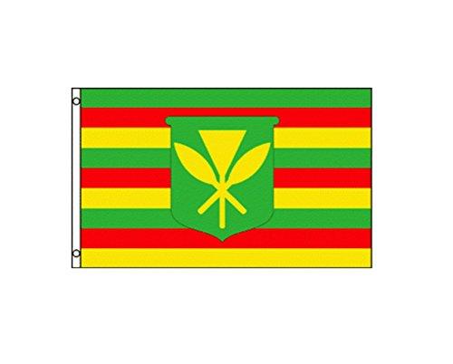 Hawaiian Flag (Kanaka Maoli Hawaii Native Hawaiian 3x5 Feet Flag by TrendyLuz Flags)