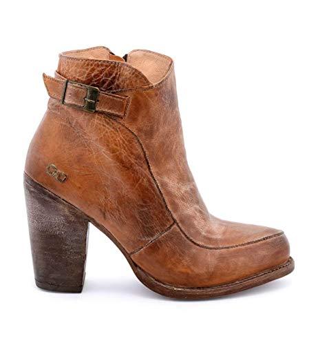 Bed|Stu Women's Isla Leather Bootie (8 M US, Tan Rustic White BFS)