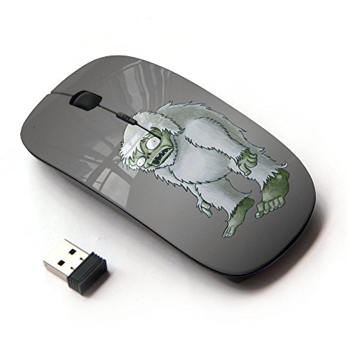 (Lol Funny Bigfoot Zombie) Unique Pattern Optical Mice Mobile Wireless Mouse 2.4G Portable for Notebook, PC, Laptop, Computer, (Bigfoot Mobile compare prices)