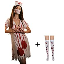 Befox Zombie Nurse Halloween Costume Women/ Fancy Dress/ Nurse Outfit