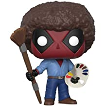 Funko POP Marvel: Deadpool playtime-bob Ross Coleccionable Figura, multicolor