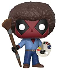 From Deadpool Playtime, Bob Ross, as a stylized POP vinyl from Funko! Figure stands 3 3/4 inches and comes in a window display box. Check out the other Deadpool Playtime figures from Funko! Collect them all!